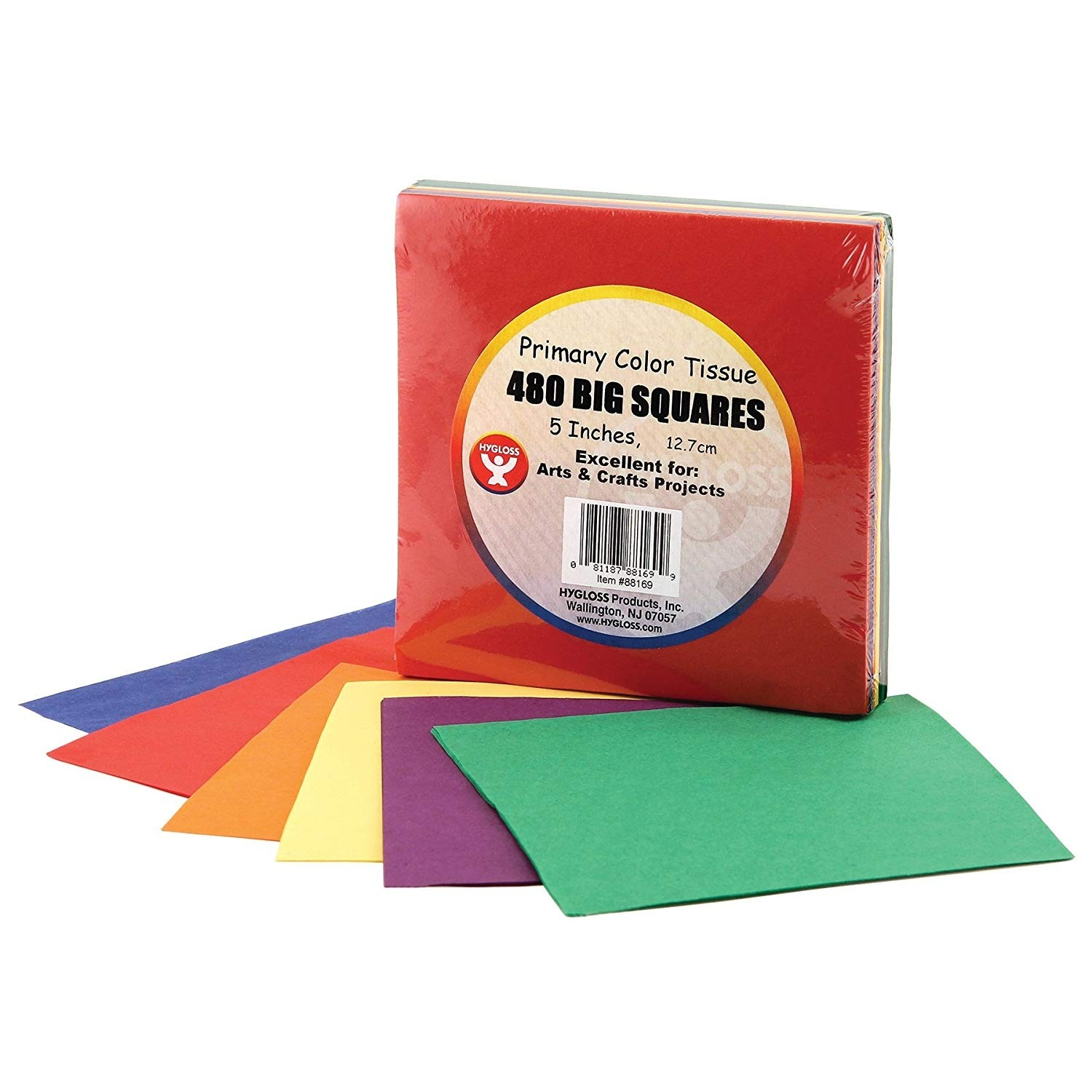 1-Inch 20 Assorted Colors Hygloss Products 1 Bleeding Tissue Circles