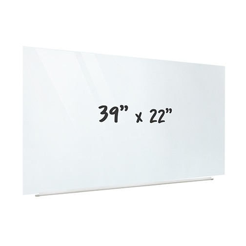 "Magnetic Glass Dry-Erase Projection Board - 39"" x 22"""