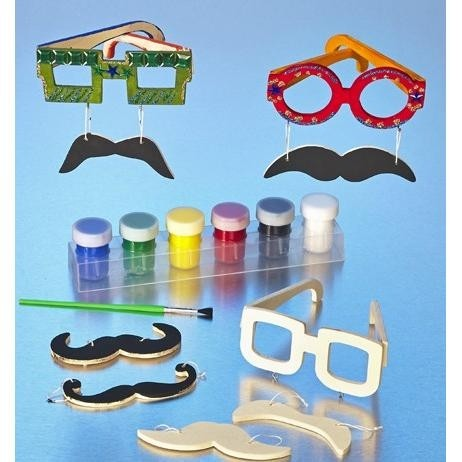Wooden Mustache Glasses