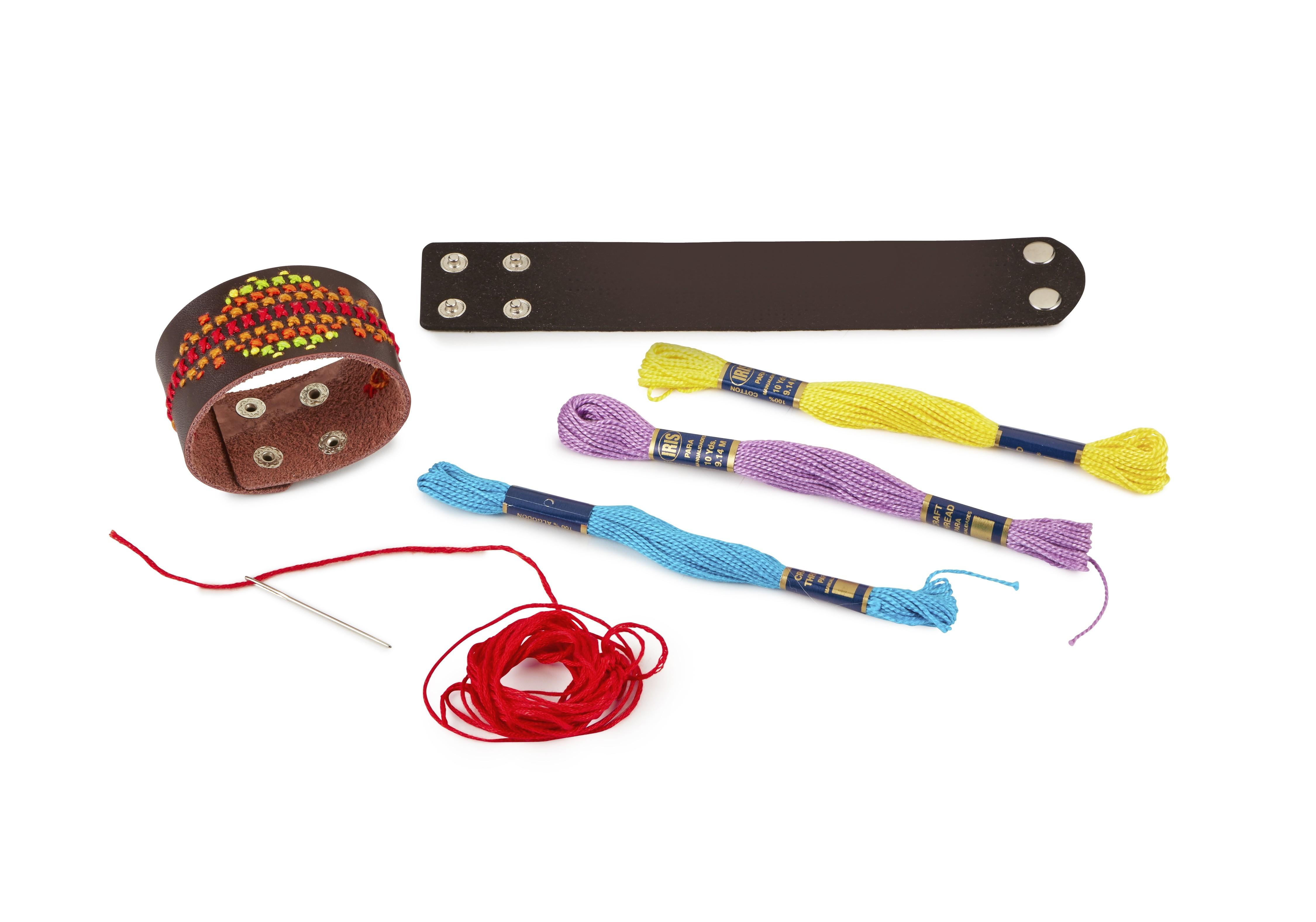 Leather Stitch Bracelets