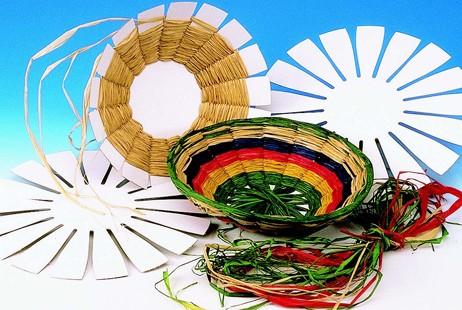 Economy Handicrafts Raffia Basket Weaving Group Pack