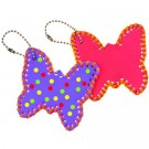 Butterfly Lace Up Key Ring