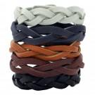 DIY Mystery Braid Leather Bracelets