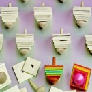 Wooden Spinning Tops w/ Paint