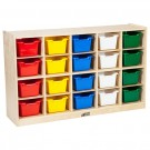20 Cubby Tray Cabinet With Colored Bins