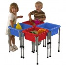 4 Station Square Sand and Water Table with Lids