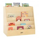 Birch Display and Store Mobile Book Cart