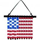 DIY Beaded USA Flag Hangers