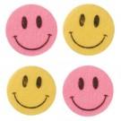 Felt Smiley Stickers