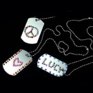 Jewel Dog Tag Necklace