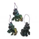 Scratch Art Unicorn Ornaments