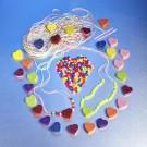 DIY Foam Heart Beaded Necklaces