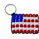 DIY 4th of July Beaded Flag Key-Chains