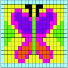 Mosaic Color By Number Sticker Art - Butterfly