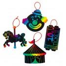 Magic Color Scratch Art Carnival Ornaments