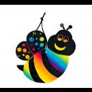 Magic Color Scratch Art Bee Ornaments