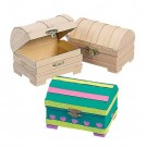 DIY Paper Mache Mini Treasure Chests
