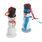DIY Snowman Ornament Craft
