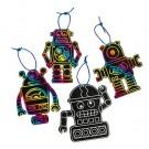 Scratch Art Robot Ornaments