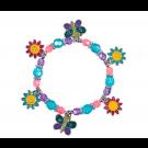DIY Beaded Butterfly & Daisy Charm Bracelets