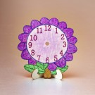 DIY Wooden Flower Clocks
