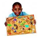 Giant Treasure Map Sticker Scene