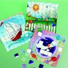 Sticker Puzzle Scene - Boat