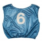 Numbered Scrimmage Vests - Adult Size - Blue