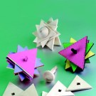 Wooden Triangle Star Spinning Tops w/o Paint
