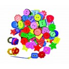 Assorted Colored Plastic Buttons