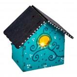 DIY Wooden Birdhouse LED Nightlights