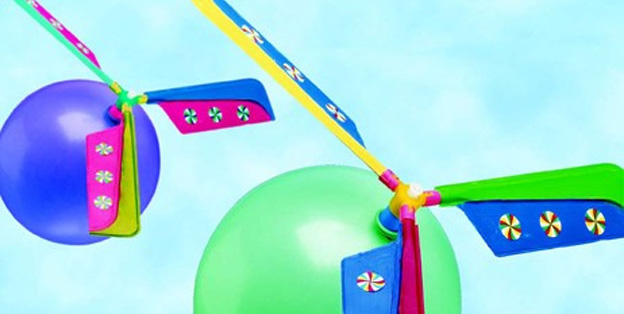 DIY Balloon Helicopters